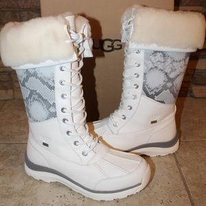 NEW!  UGG Tall ADIRONDACK Leather Boots